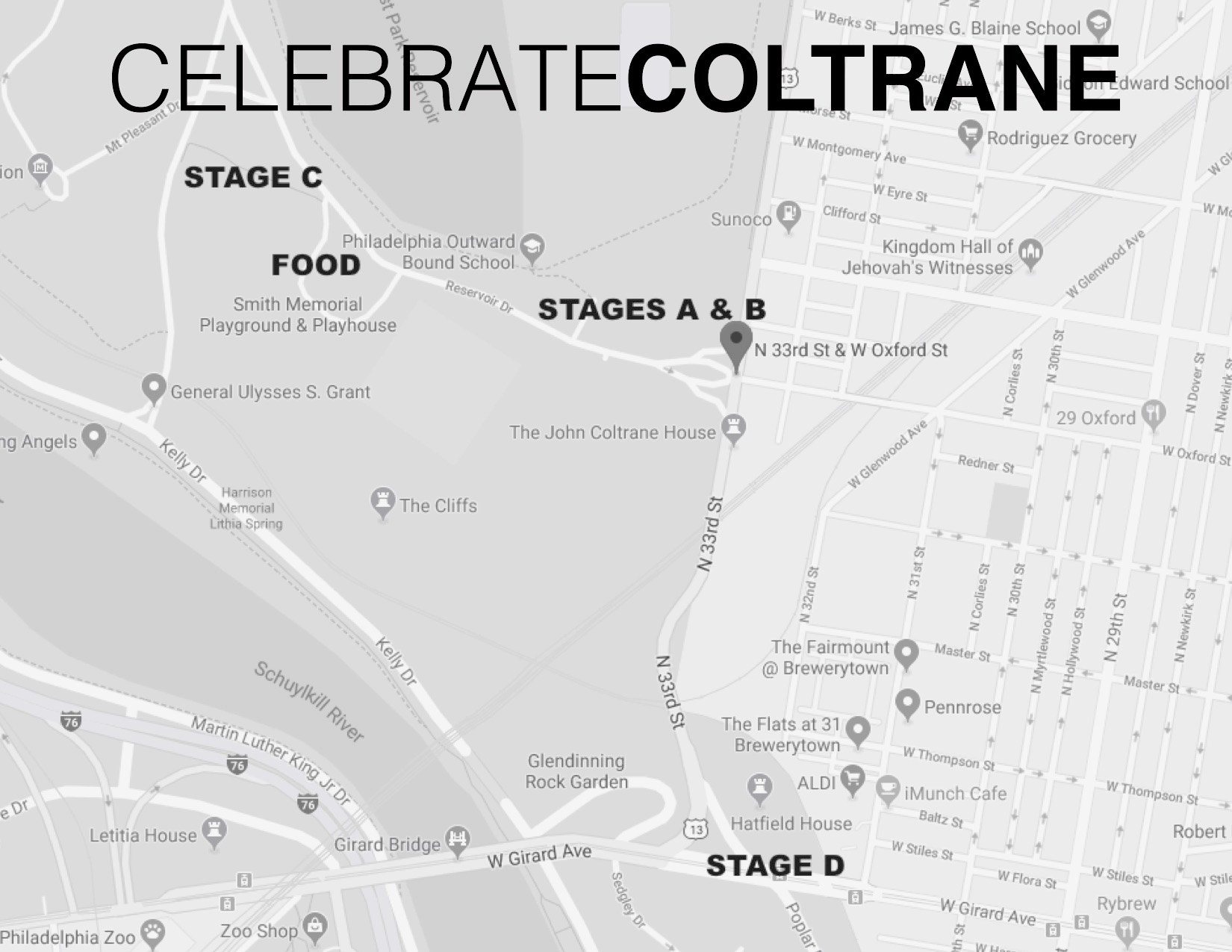 Celebrate Coltrane 2019 Map